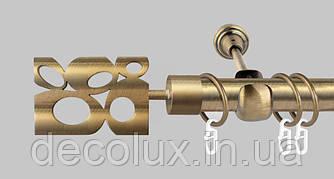 Карниз для штор однорядный металлический 25 мм, Бисетте (комплект)