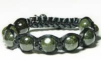 Мужской браслет шамбала из Змеевика
