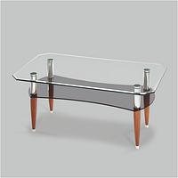 Стол журнальный стеклянный Аспект Д(1100*600*455)