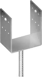Наконечник колонны U-образный U-образный ,сталь ,цинк белый ,для кровельных работ, для строительства