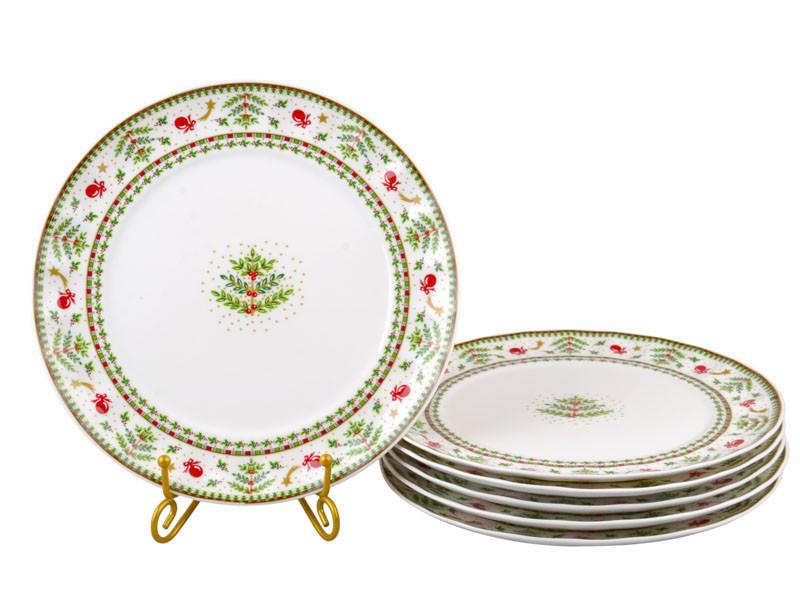 Набор тарелок Lefard Рождественская коллекция 26 см6 шт943-161
