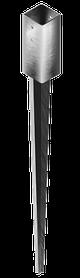 Наконечник колонны А-типа сталь ,цинк белый ,для кровельных работ, для строительства ,600(150) -