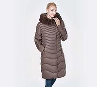 Женский зимний пуховик с капюшоном. ( 01240)