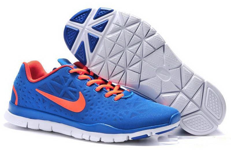 Кроссовки Nike Free Run 5.0 V5 мужские синие с оранжевым