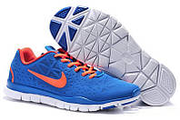 Кроссовки Nike Free Run 5.0 V5 мужские синие с оранжевым, фото 1