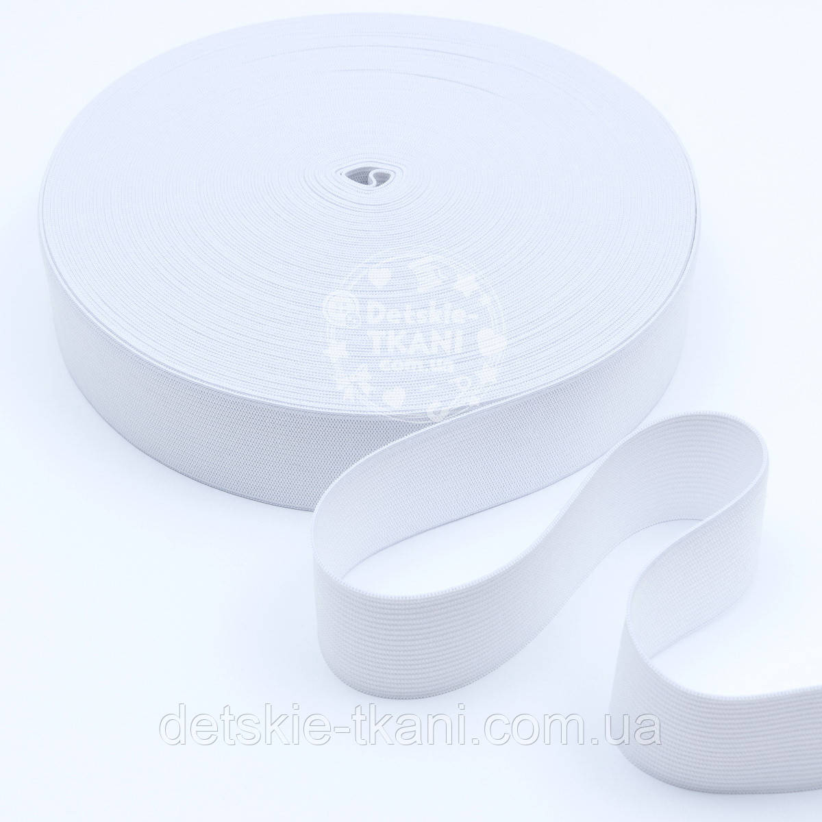 Резинка эластичная, белая, ширина 35 мм.