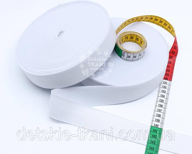 Белая эластичная резинка 35 мм
