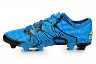 Оригинальные мужские футбольные бутсы Adidas X 15.1 FG Blue