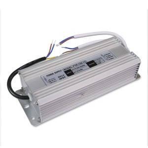 Блок питания 120W для светодиодной ленты DC12 10А WP герметичный, алюминиевый