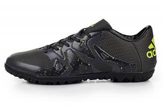 Оригинальные мужские футбольные бутсы Adidas X 15.1 FG Blue Black