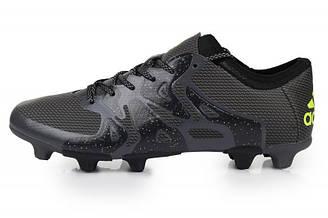 Оригинальные мужские футбольные бутсы Adidas X 15.1 FG Black