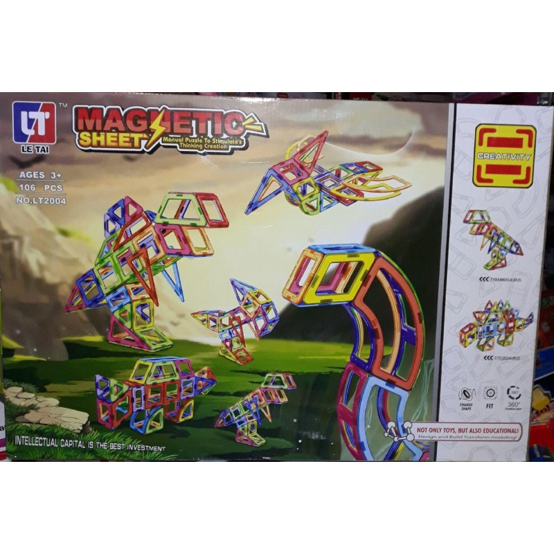 Магнитный конструктор Magnetic LT2004 106 деталей