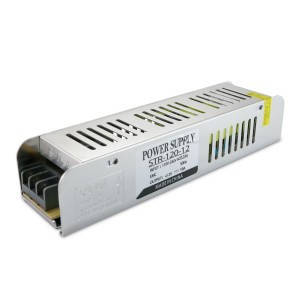 Блок питания для светодиодной ленты DC12 120Вт 10А STR-120 узкий с EMC фильтром