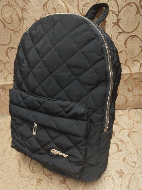 Стеганый женский Рюкзак. Черный