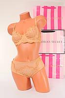 Комплект белья 32DD 70DD Victoria's Secret Мягкая чагшка трусики S Оригинал Виктория Сикрет, фото 1