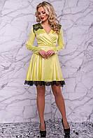 ЖІноче атласне плаття з поясом та гіпюром.Р-ри 42-48, фото 1