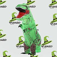 Надувной костюм Тираннозавр зеленый