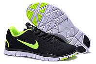 Мужские кроссовки для бега Nike Free Run 5.0 V5  черно-желтые, фото 1