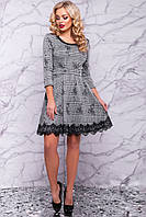 ЖІноче плаття  з кружевом внизу та сіткою на спині.Р-ри 42-48, фото 1