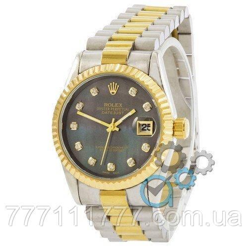 2e5931029c54 Часы женские наручные Rolex Date Just Silver-Gold-Green Pearl гарантия