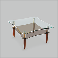 Стол журнальный стеклянный Элегант Quadro Д(800*800*455)