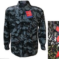 e96655fc054d Мужские теплые рубашки с начесом на пуговицах 817k оптом недорого со склада  в Одессе (7км