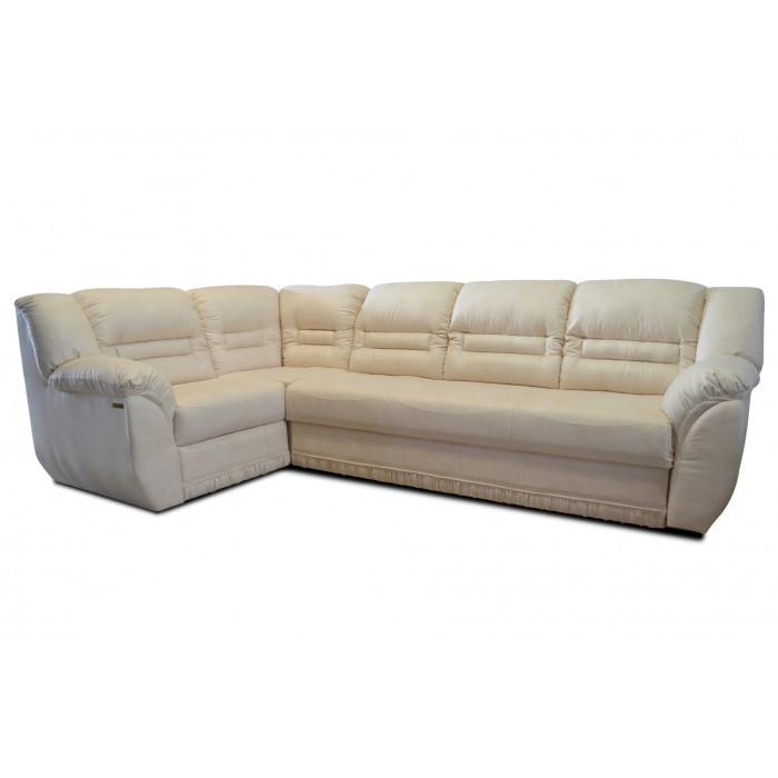 Угловой диван Хаммер 2.6 молочный Элизиум