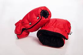 Муфта-рукавицы на коляску DECOZA.MOMS оксфорд Красный (DM-MO-2)