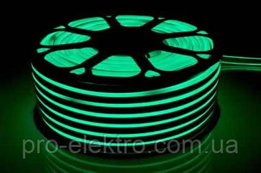 Светодиодный неон 120Led/m STANDART-120G2835-220V-12W/m IP65 6mm Зелёный
