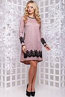 ЖІноче ангорове плаття з люрексом та кружевом.Р-ри 44-50, фото 1