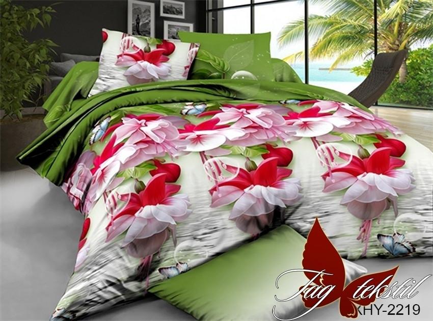 Комплект постельного белья XHY2219 двуспальный (TAG polycotton 2-sp-530)