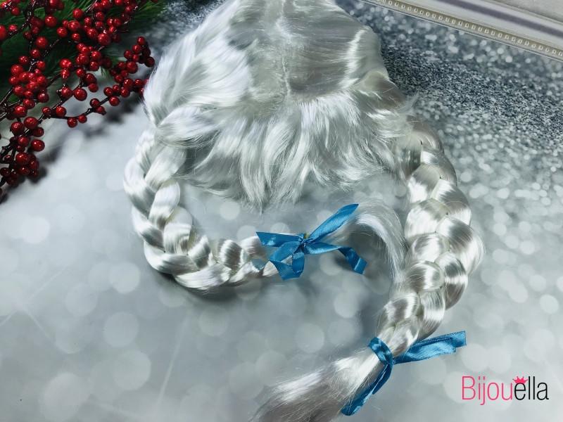 Новогодний парик 50 см Снегурочка с двумя косами на праздничные утренники, вечеринки или корпоративы