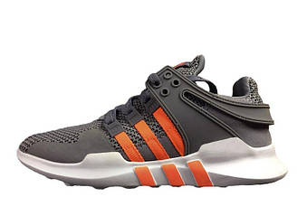 Мужские кроссовки Adidas EQT ADV Support Grey Orange  Адидас  EQT ADV серые оригинал