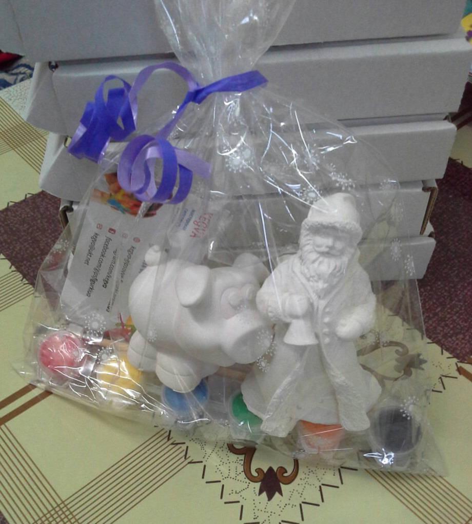 Новогодний набор гипсовых фигурок для творчества. Різдвяний набір гіпсових фігурок для творчості №35