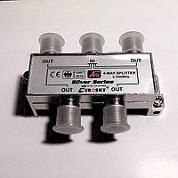 Делитель на 4 - 4WAY SPLITTER 5-1000MHz Eurosky + 5 F56 разъемов.