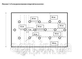 Агроволокно ПЕРФОРИРОВАННОЕ 60 г/м² черное (1,6м*5м), мульчирующее от сорняков, для клубники