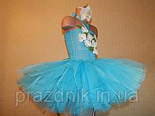 Платье Орхидея голубое