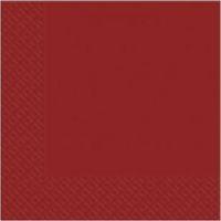 Салфетки бордовые Марго 24*24см 500шт  3 слойные
