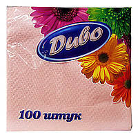 Салфетки розовые 24х24см 100шт Обухов