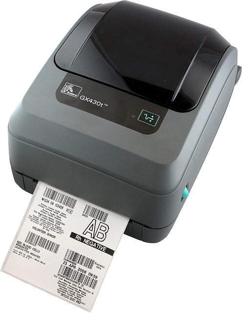 Zebra GX430T термотрансферный принтер печати штрих кода