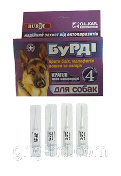 Бурди краплі для собак