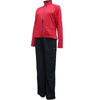 Костюм спортивный женский adidas Ess Woven P08965 (красный с черным, без манжета, прямой крой, бренд адидас)