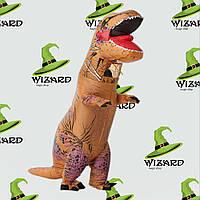 Надувной костюм Тираннозавр коричневый
