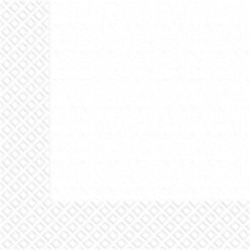 Салфетки белые 33х33см Марго 50шт  2 слойн.