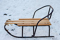Санки классик (Днепр) с откидной спинкой, фото 1
