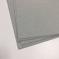 Картон дизайнерський - сірий з ворсистим вкрапленням - з легкою фактурою - 21,5х20 см - 250 г./м.кв