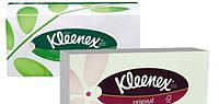 Салфетки в коробке Kleenex 70шт 20*20см 3 слойные Family Оriginal -565