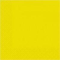 Салфетки желтые 33х33см 200шт Марго 2 слойные