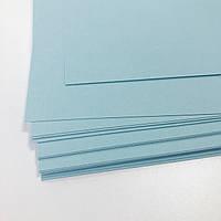 Картон дизайнерський - блакитний - гладкий - 20х21,5 см - 290 г./м.кв