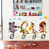 """Наклейка в детскую, на шкаф """"звери на велосипедах в цирке"""" 73см*120см (лист 60*90см), фото 4"""